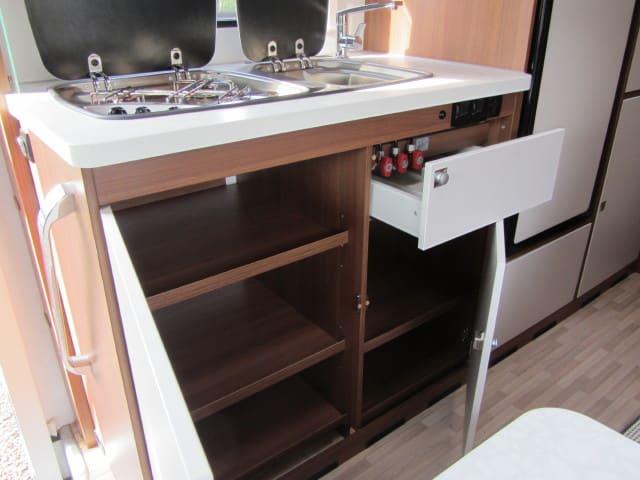 LMC 694 G Fiat open keukenkasten
