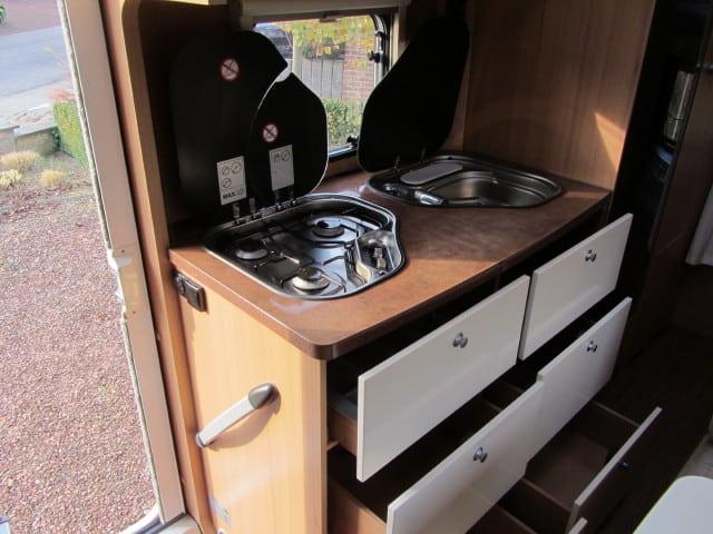 LMC 663 G open kasten onder kookvuur